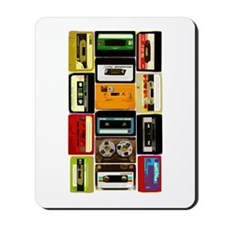 Retro Colored Cassettes Mousepad