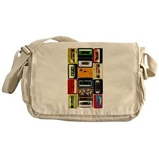 Retro Colored Cassettes Messenger Bag