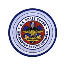 "Rescue Swimmer 3.5"" Button"