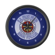 Rescue Swimmer Large Wall Clock