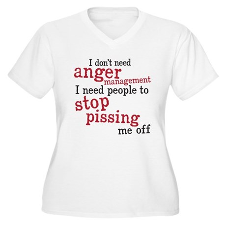 anger management Women's Plus Size V-Neck T-Shirt