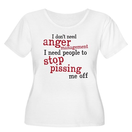 anger management Women's Plus Size Scoop Neck T-Sh