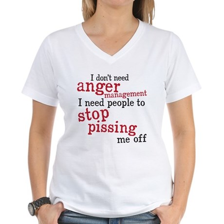 anger management Women's V-Neck T-Shirt