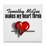 Timothy McGee makes my heart throb Tile Coaster