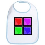 Pop Art Hearts Bib