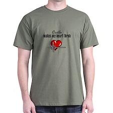 Castle makes my heart throb Dark T-Shirt