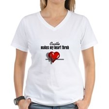 Castle makes my heart throb Women's V-Neck T-Shirt