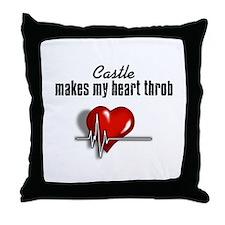 Castle makes my heart throb Throw Pillow
