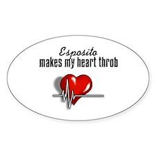 Esposito makes my heart throb Sticker (Oval 50 pk)