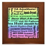 Vintage Scuba Collection Framed Tile