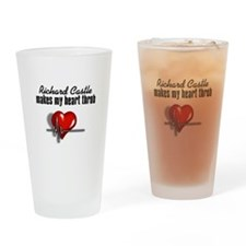 Richard Castle makes my heart throb Drinking Glass