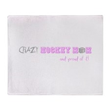 Cute Hockey quotes Throw Blanket