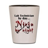 Lab Technician Ninja Shot Glass