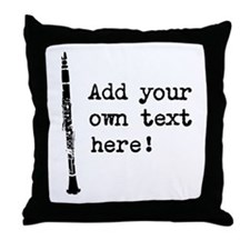 Custom Clarinet Throw Pillow