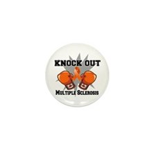 Knock Out Multiple Sclerosis Mini Button (10 pack)