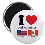"USA-PERU 2.25"" Magnet (10 pack)"