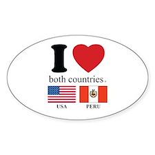 USA-PERU Bumper Stickers