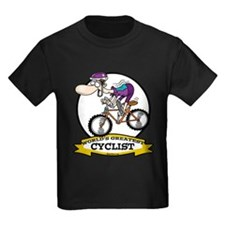 WORLDS GREATEST CYCLIST MEN CARTOON T