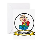 WORLDS GREATEST CRYBABY CARTOON Greeting Card