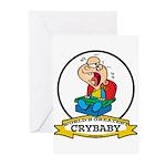 WORLDS GREATEST CRYBABY CARTOON Greeting Cards (Pk
