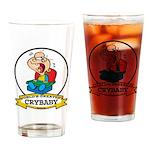 WORLDS GREATEST CRYBABY CARTOON Drinking Glass