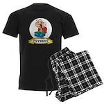 WORLDS GREATEST CRYBABY CARTOON Men's Dark Pajamas