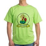 WORLDS GREATEST CRYBABY CARTOON Green T-Shirt