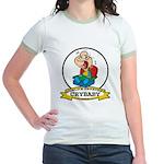WORLDS GREATEST CRYBABY CARTOON Jr. Ringer T-Shirt