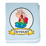 WORLDS GREATEST CRYBABY CARTOON baby blanket