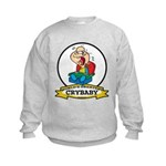 WORLDS GREATEST CRYBABY CARTOON Kids Sweatshirt