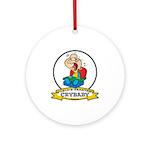 WORLDS GREATEST CRYBABY CARTOON Ornament (Round)