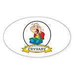 WORLDS GREATEST CRYBABY CARTOON Sticker (Oval)