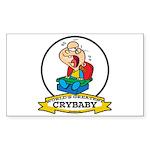 WORLDS GREATEST CRYBABY CARTOON Sticker (Rectangle