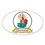WORLDS GREATEST CRYBABY CARTOON Sticker (Oval 50 p