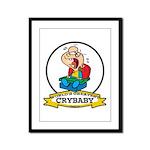 WORLDS GREATEST CRYBABY CARTOON Framed Panel Print