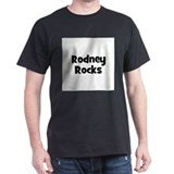 Rodney Rocks Black T-Shirt