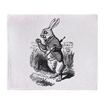 The White Rabbit Throw Blanket
