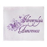 Fibromyalgia Awareness Throw Blanket