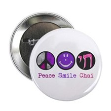 "Peace Smile Chai 2.25"" Button"