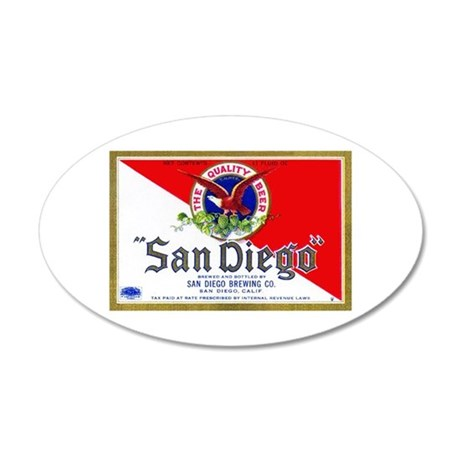 California Beer Label 9 38.5 x 24.5 Oval Wall Peel