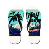 California Beer Label 7 Flip Flops