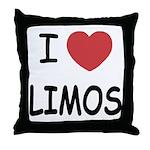I heart limos Throw Pillow