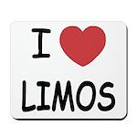 I heart limos Mousepad