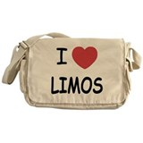 I heart limos Messenger Bag