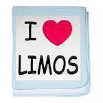 I heart limos baby blanket