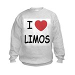 I heart limos Kids Sweatshirt