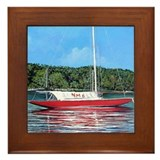 NM sailboat Framed Tile