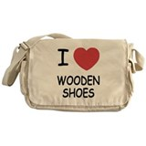 I heart wooden shoes Messenger Bag