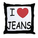 I heart jeans Throw Pillow