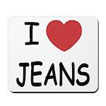 I heart jeans Mousepad